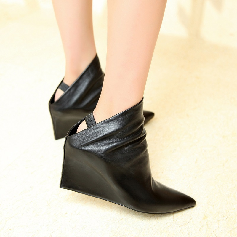 2015 spring new leather fashion shoes sexy hollowed out rivets high-heeled women's shoes Ma Dingxue black shoes women 34-39