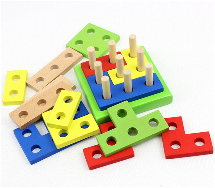 FQ brand hot sell children puzzle early educational toy wooden building blocks juguete toys for kids