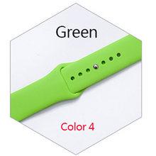 Цветной мягкий силиконовый спортивный ремешок для Apple watch Series 4 3 2 1, сменный ремешок для iWatch 42 мм 38 мм(Китай)