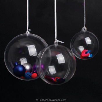 146cm diameter clear plastic sphere christmas decorative ball 1lot90pcs - Plastic Christmas Balls