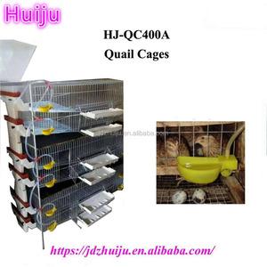 Semi-automatic feeder hopper 250-300 quail cages for Quail Farming HJ-QC400A