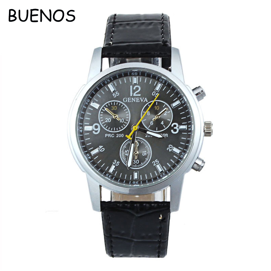 Hot Selling Leather Strap China Wholesale Geneva Watches for <strong>Men</strong>