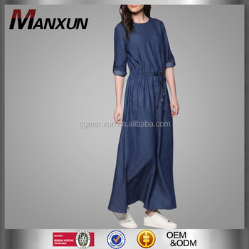 064c4a9e4e Latest Muslim Women Jeans Abaya China Supplier Long Sleeve Islamic Clothing  Modern Style Dubai Abaya With