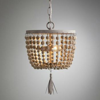 Wunderbar Jahrgang Im Alter Von Indischen Stil Kronleuchter, Perlen Aus Holz  Kronleuchter Mit UL/ce