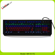 Wholesale popular mechanical wired backlit keyboard MK1517S