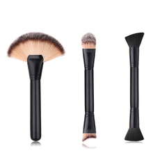 Make up borstels classic black cosmetische brush tool custom logo contour blush make-up <span class=keywords><strong>borstel</strong></span> set