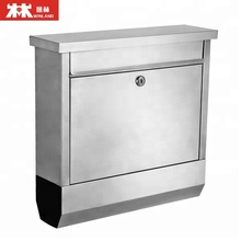 Stainless steel mailbox, Wall mounted letter box, Apartment mailbox