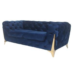 3 Seater Living Room Chesterfield Velvet Sofa Luxury Golden Modern Customization Living Room Furniture