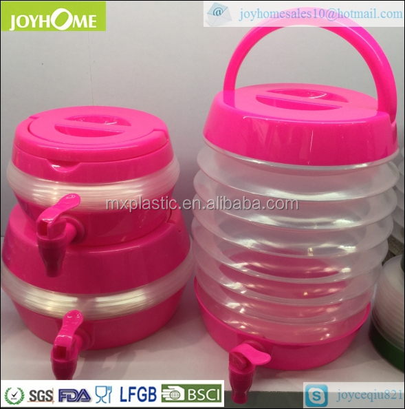 High quality portable plastic collapsible beverage dispenser coffee cup dispenser