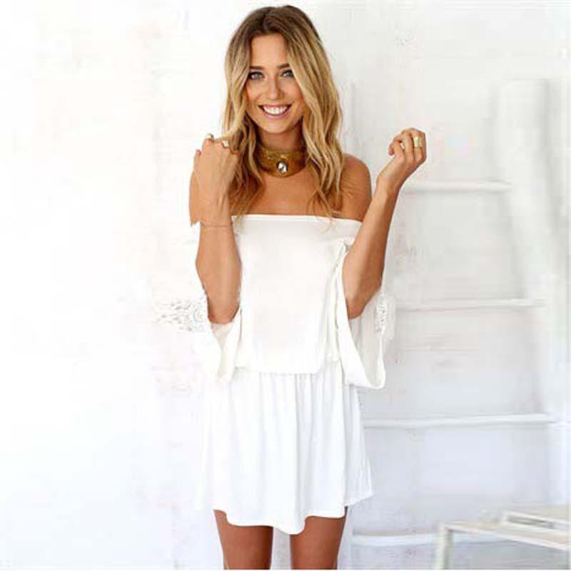 Buy Fashionwestatmsummer Casual Dresses Ladies Chiffon Lace