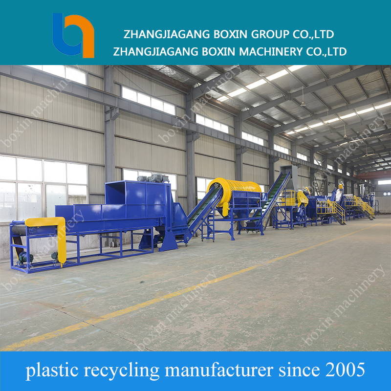 used HDPE LDPE PP washing crushing recycling line