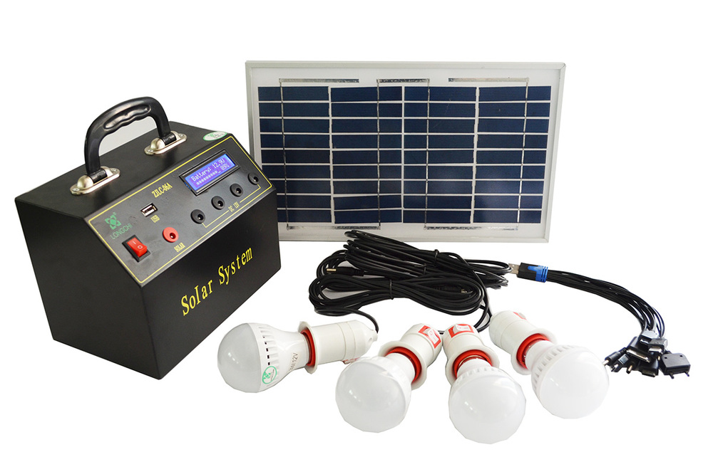 2015 low price 6W dc output solar system for home