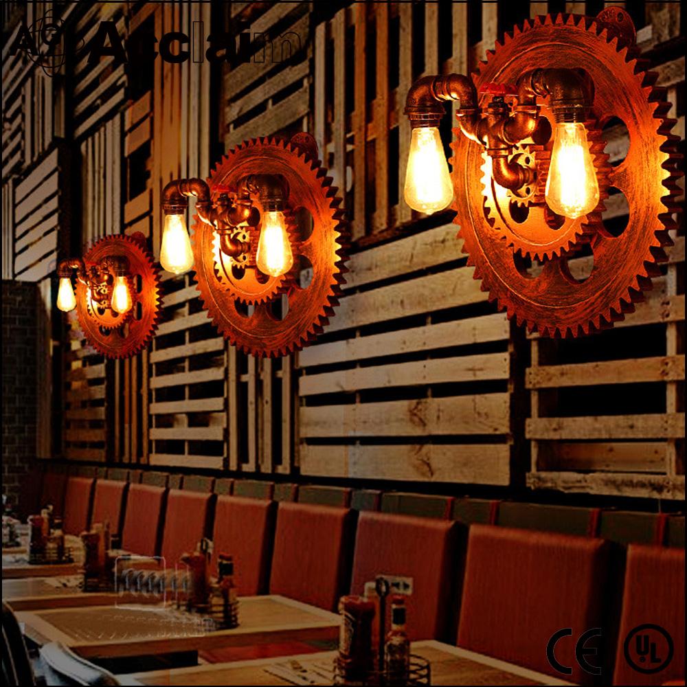 lampadari stile industriale da parete : in stile artistico in ferro battuto luce industriale lampada da parete ...