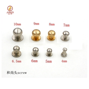 Solid Brass base material Screw-in Stud/Collar Button
