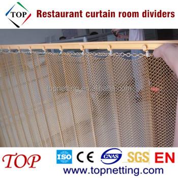 Restaurant Hanging Curtain Room Divider Decorative Metal Curtains