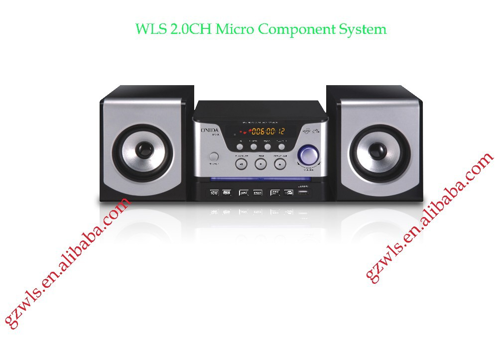 Hot selling 2.0 ch MV-88 computer speaker support USB SD FM radio DVD VCD CD audio video AUX functions