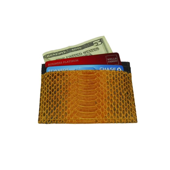 100% Real Python Leather Card Holder