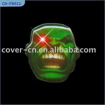 LED Flashing Badges Emblems for Holoween Gifts and Promotion