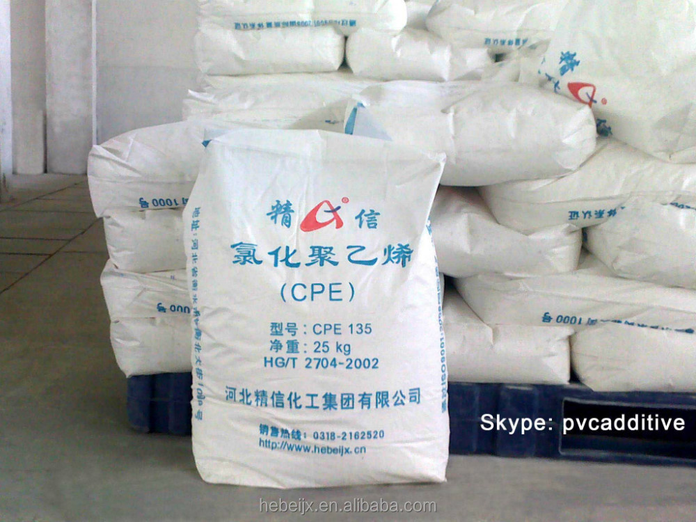 pvc/plastic additives/auxilary impact modifier CPE135