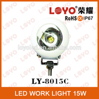 15w*1pcs high intensity LEDs round led driving light, 15w led work light mini moving head light