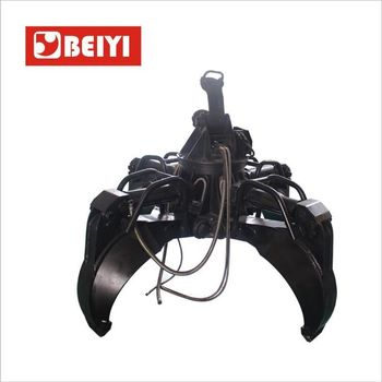 BEIYI BY1500H Excavator Hydraulic Scrap Grab Orange Peel Grapple for sale