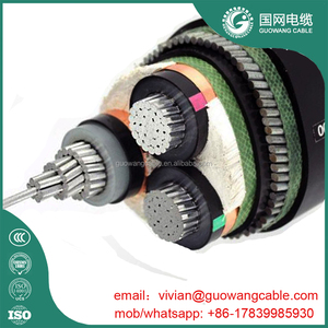 11kv 95mm2 3core XLPE/PVC/SWA/PVC Aluminum Cable Black Outer Sheath IEC 60502