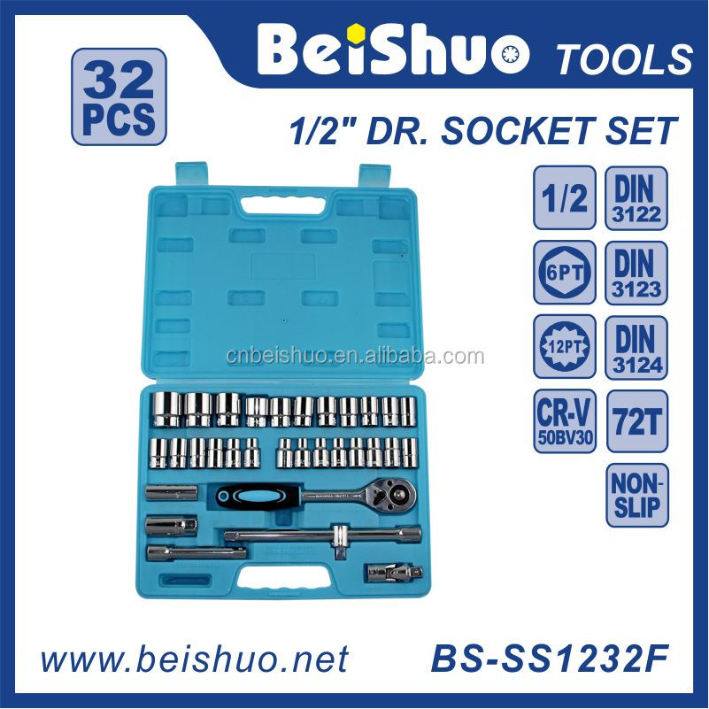 "Professional 32PCS 1/2"" DR. Socket Set Auto household kit tools"