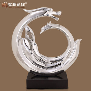 Wholesale indoor decorative crafts resin abstract dragon statues for home decor