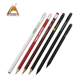 Cheap HB pencils supplier 2018 hot sale with logo personalized black pencils/black wood pencil without eraser/black lead