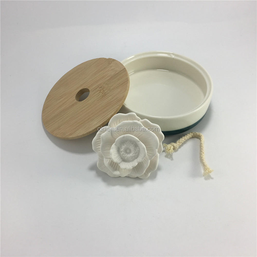 Ceramic flower Fragrance essential aroma set