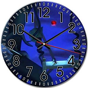 Attractive Disney Epic Mickey Large Arabic Numbers Round Wall Clock Frameless Silent 10 Inch / 25 cm Diameter