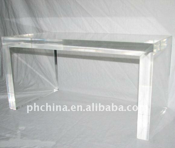 Jad 340 lungo rettangolo trasparente in plexiglass tavolo - Tavolino plexiglass ...