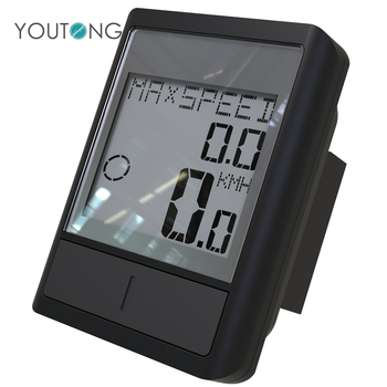 Cheap Digital Wired GPS LCD Display Bike Speedometer , Low Power Indicator Bike Computer with Temperature