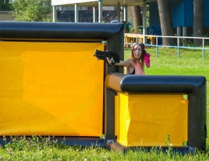 China New Inflatable Paintball Bunkers For Laser Tag Games