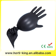 High quality cheap black nitrile gloves / thicken medical glove