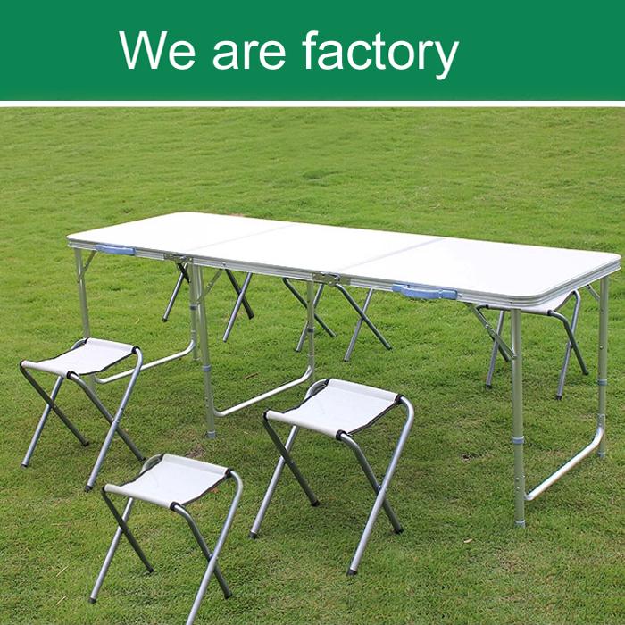 Portatile cavalletto di campeggio di picnic tavolo da for Mobili in alluminio per esterni