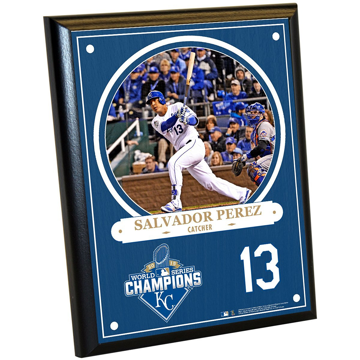 b508f632 Get Quotations · MLB Kansas City Royals Salvador Perez 2015 World Series  Champions Plaque, 8 x 10