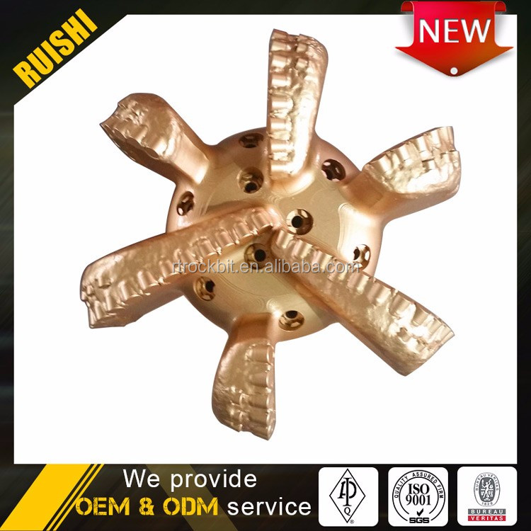High-performance wear-resistant materials long parabolic crown oil well pdc drill bit