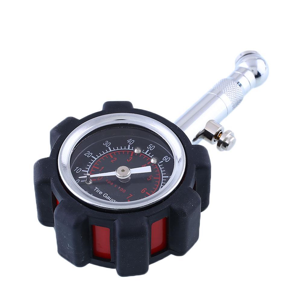 car tyre tire air pressure gauge dial meter tester motor bike 1 100ps black on. Black Bedroom Furniture Sets. Home Design Ideas