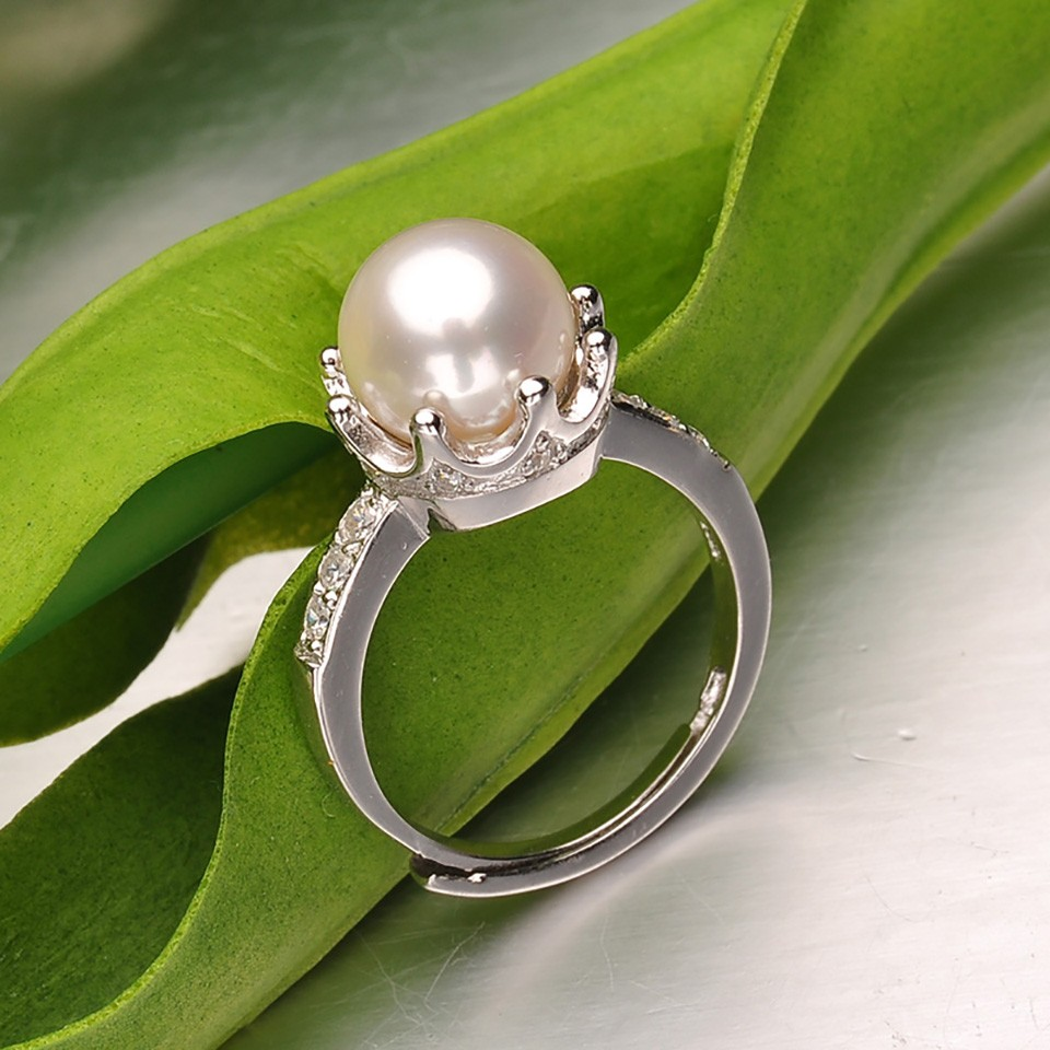 beads products rings fine smooth sterling woman tripe open original adjustable silver jewelry round
