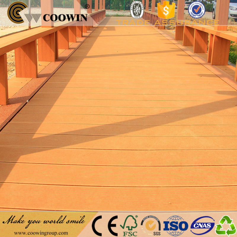 Hot sell Garden Wood Plastic Composite mahogany wood decking
