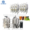 Turnkey 5hl microbrewery equipment 500l beer brewing kettles with good price