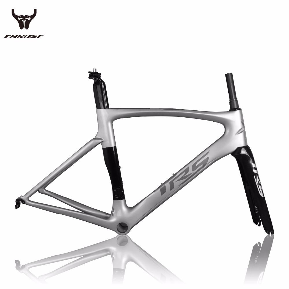 Thrust Carbon Road Bicycle Frame Racing Bike Chinese Carbon Fiber Road Bike Frame 49cm 52cm 54cm 56cm 58cm