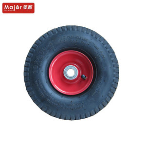 10 inch puncture-proof rubber tyre pneumatic wheel 4.00-4