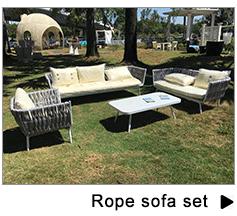 High quality used hotel european sun fun foshan luxury big lots rope aluminum modern outdoor furniture