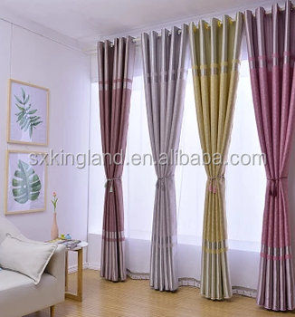 Indian Window Curtains Embossed Blackout Curtain Chinese Beaded
