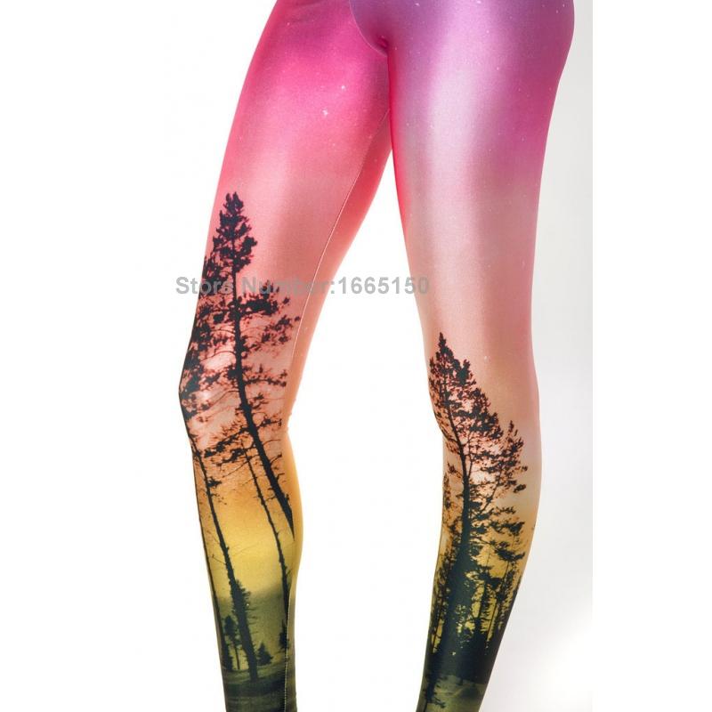 3720cc01de515 Spring 2015 Sexy Milk Silk Trees Print Galaxy Leggins Fitness Leggins For  Women Cheap Price Leggings