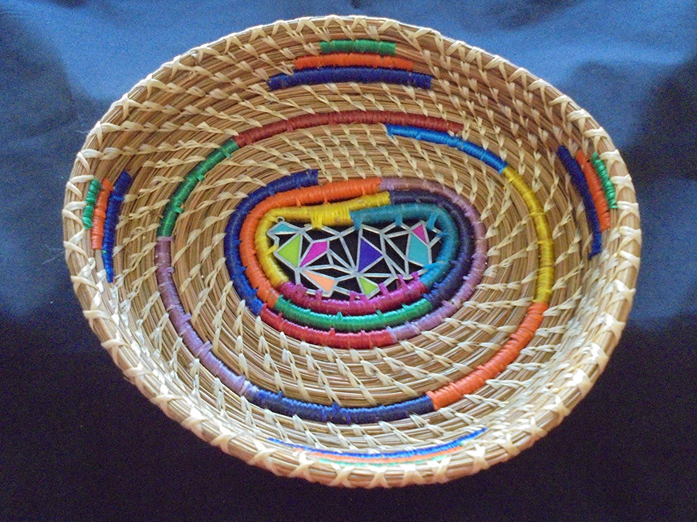 Pine Needle Multi-colored BASKET
