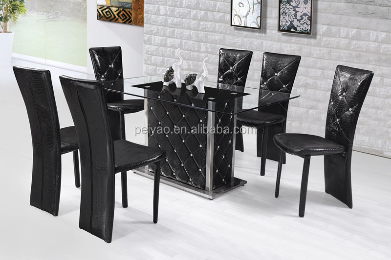 Modern Tempered Glass Dining Table Set /dining Table And Chair ...