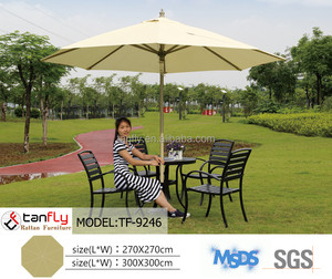 New 3m round middle pole hand-pulled string aluminium outdoor parasol